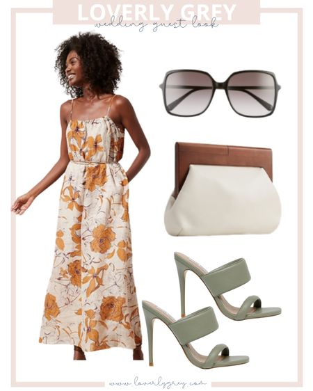 Pair a floral dress with colored heels for a wedding guest dress look for summer or fall!   #LTKunder100 #LTKwedding #LTKstyletip