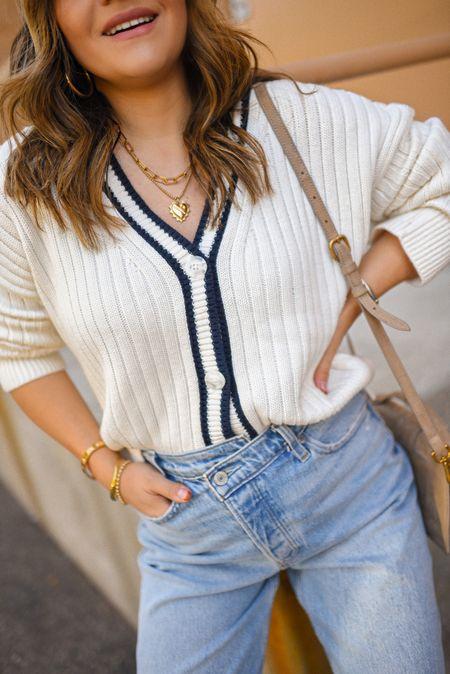 Take 25% off my entire look! Sweater and jeans run tts! Sweater size small, jeans size 26! - abercrombie, fall look, fall fashion, fall style, knit sweater, sweater, denim, jeans, dad jeans  #LTKsalealert #LTKunder100 #LTKSale