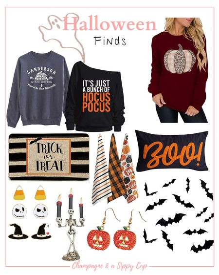 halloween finds from Amazon / halloween Sweaters and home decor  #LTKSeasonal #LTKhome #LTKstyletip