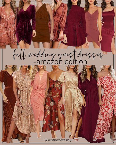 Fall wedding guest dresses from Amazon   #LTKSeasonal #LTKstyletip #LTKunder100