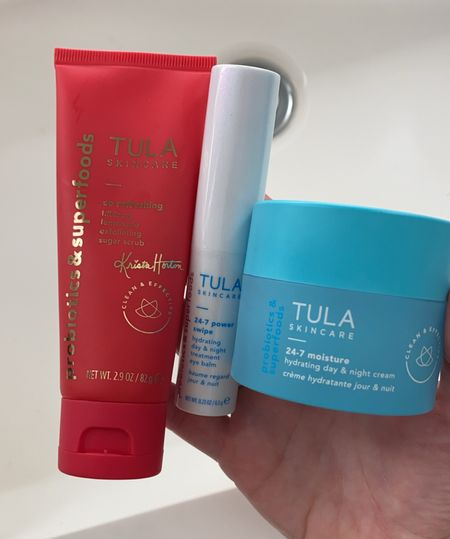 Obsessed with this new Tula 24/7 eye balm! Pairs perfectly with the 24/7 moisturizer and loving this summer sugar scrub too. Use BRITTNEYANN for 15% OFF all #Tula products.   #LTKunder50 #LTKsalealert #LTKbeauty