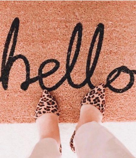 Oh hello , #Fall. #doormat #leopardheels #fallfashion   #LTKhome #LTKSeasonal #LTKHoliday