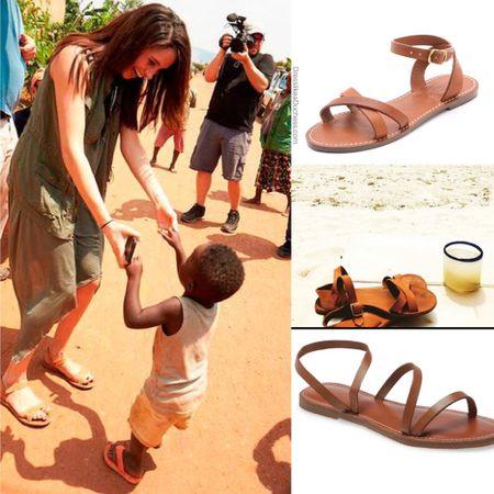 Meghan wearing Madewell boardwalk sandals similar at Nordstrom #flats #beach #gladiator #comfort  #LTKstyletip #LTKshoecrush