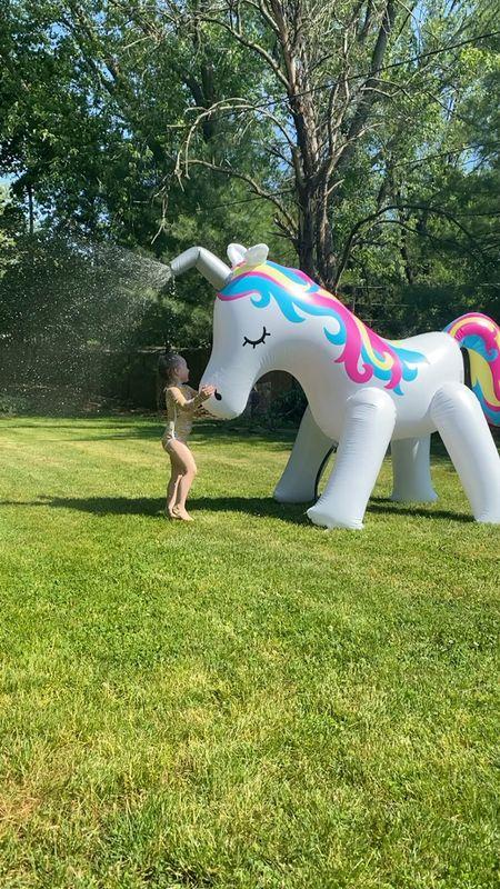 6ft tall unicorn sprinkler 🦄  #LTKhome #LTKSeasonal #LTKfamily