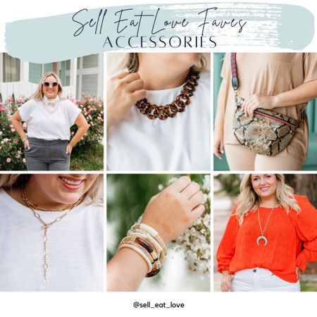 Favorite Accessories I'm Loving!  #jewelry #accessories #pendent #bracelet #scarf #necklace #leatherbeltbag