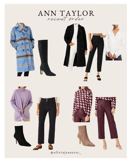 Ann Taylor recent order. Fall workwear and casual pieces to add color to your wardrobe! 💜  #LTKunder100 #LTKSeasonal #LTKworkwear