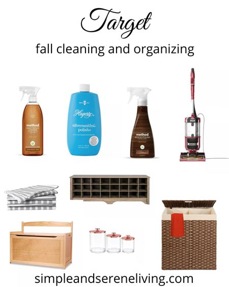 Get ready for cooler weather by having your home clean and organized for fall. #Organization #CleaningProducts #Fall  #LTKSeasonal #LTKhome