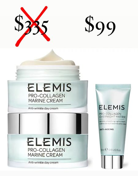 Somebody tell mike! Qvc is having a major deal on Elemis pro collagen marine cream. If purchased separately this would be $335! Get it for $99 with the early Black Friday deal! I'm getting these for mike as stocking stuffers! Never too early for holiday shopping!   #LTKHoliday #LTKbeauty #LTKunder100