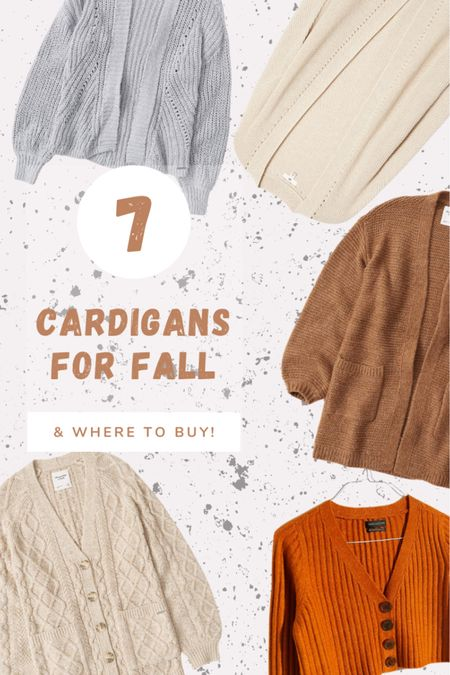 Round up of the perfect fall cardigans. Puff sleeve, cropped, longline, open front, buttons etc.   http://liketk.it/2VghV #liketkit @liketoknow.it #StayHomeWithLTK #LTKunder100 #LTKstyletip