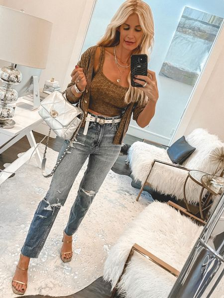 Because you can never go wrong with a cardigan set and really good denim!! Both run tts, wearing an XS in the set and a 24 the jeans.   Follow my shop @soheatherblog on the @shop.LTK app to shop this post and get my exclusive app-only content!  #liketkit #LTKstyletip #LTKunder100 #LTKitbag @shop.ltk http://liketk.it/3pGEJ