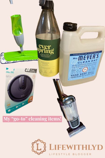 """Calling ALL MOME! My """"go-to"""" cleaning products! These items keep me sane (ok, not really 🤪).   .   .  Check out my new blog post at lifewithlyd.com & read more about these must have products!  #cleaning #noharshcleaning #swiffer #shark #eufyrobovac #target #walmart #girlmom #momofamessyhouse #blogger @liketoknow.it #liketkit  Shop ⬇️   http://liketk.it/36k3H"""