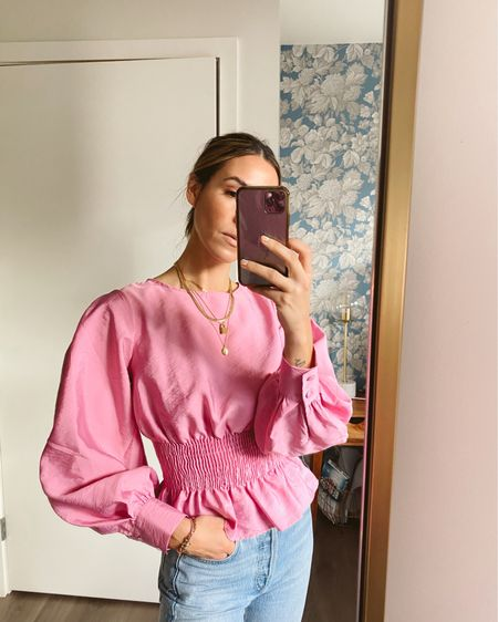 How adorable is this pink smocked blouse! It comes in three colors and is under $70!! http://liketk.it/3ccyT #liketkit @liketoknow.it #LTKstyletip #LTKunder100
