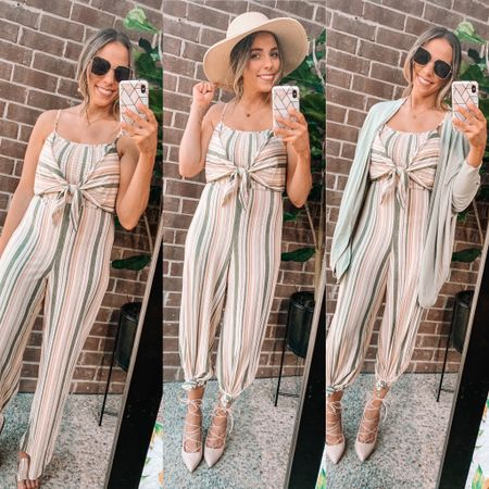 Loving this super cute (and CHEAP!) jumpsuit from Walmart! Styled three ways! This style is linked up for you!! http://liketk.it/3fJXH #liketkit @liketoknow.it #LTKshoecrush #LTKworkwear @liketoknow.it.home Shop my daily looks by following me on the LIKEtoKNOW.it shopping app