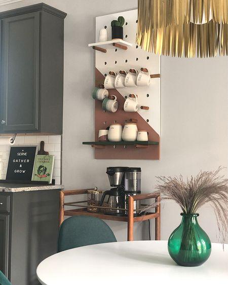 😎Latest version of this peg board. 🎨 More details and before/after pics on my blog viktoriyacole.com #liketkit @liketoknow.it http://liketk.it/2ORnY #LTKhome #LTKunder100 #greenville360 #midcenturymodern #coffeebar #homedecor #lifestyle #targetstyle #etsyfinds #kitchendesign #greenvilleinfluencer #diyer #diyblogu