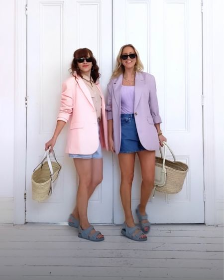 @liketoknow.it #liketkit http://liketk.it/3g0cj H&M satin midi skirt, oversize blazer, converse high top trainers, Nike Air Force ones, Chloe and Loewe basket bags