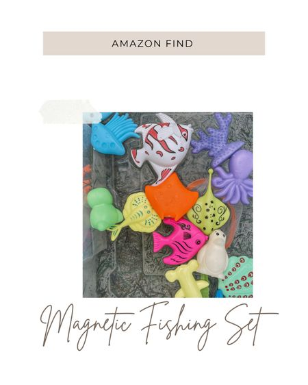 Magnetic fishing set for toddlers / kids. Great outdoor or indoor activity to keep the kiddos entertained this summer! Amazon find! http://liketk.it/3iP75 #liketkit @liketoknow.it #LTKbaby #LTKkids #LTKfamily