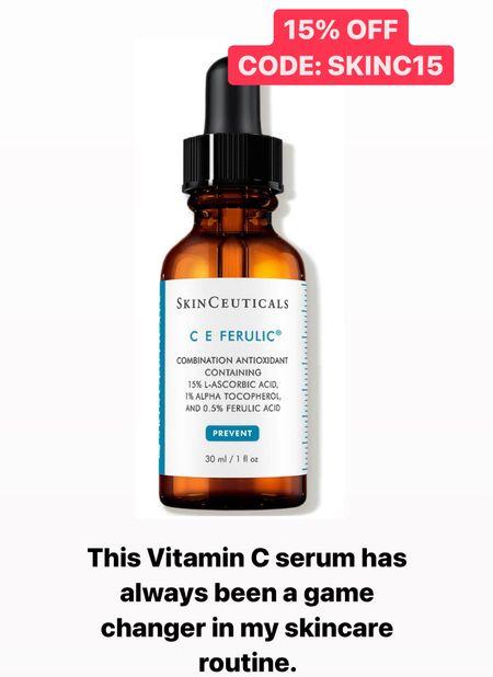 My favorite vitamin c serum is 15% off today. Skinceuticals. C E Ferulic. Use code: SKINC15  #LTKsalealert #LTKbeauty