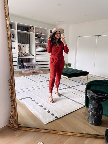 Love this jumpsuit from Nasreen's collection with Gibson! I'm wearing a size small and it fits TTS. It does have a hook and it's nursing friendly :) Code NITA15  #LTKunder100 #LTKstyletip