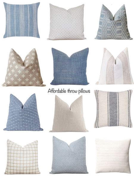 Pillows perfect for summer all under $40! Mix and match the pretty blues & neutrals to make the perfect combo!   You can instantly shop my looks by following me on the LIKEtoKNOW.it shopping app http://liketk.it/3hkVc #liketkit @liketoknow.it #LTKunder50 #LTKstyletip #LTKhome @liketoknow.it.home