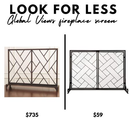 Look for less, Global Views fret fireplace screen, Amazon Home, fretwork, chinoiserie decor  #LTKunder100 #LTKhome