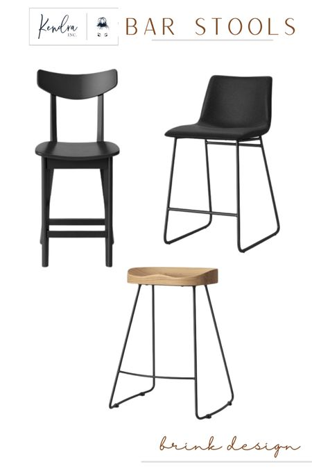 Three styles of bar stools for my clients home design project. Clean, elegant & timeless!  http://liketk.it/3gnFD #liketkit @liketoknow.it #LTKhome #LTKstyletip #LTKunder100 #ltkseasonal #competition