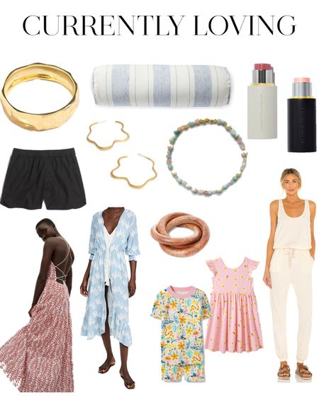 Currently Loving ✨Lots of great pieces for a beach vacation, wedding guest dress, home decor, bolster pillow that'd be so cute in a bedroom, summer dress, jumpsuit style @liketoknow.it #liketkit http://liketk.it/3g8qE #LTKhome #LTKkids #LTKsalealert