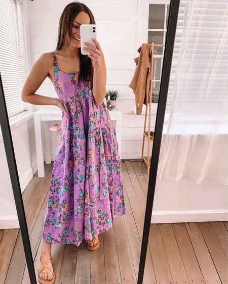Amazon maxi dress - wearing a S  Amazon sandals - true to size  Amazon outfits amazon dresses amazon spring dress amazon fashion finds #LTKunder50 #LTKstyletip #LTKSeasonal http://liketk.it/3aBON #liketkit @liketoknow.it
