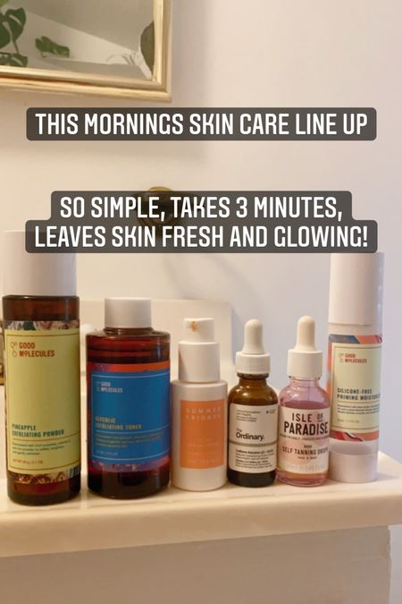 Easy morning skin care routine for glowing skin! Mostly budget friendly with one splurge item.    #LTKunder50 #LTKbeauty #LTKunder100