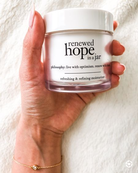 It's the last day to shop Ulta's Love Your Skin Event! Today's beauty steal includes 50% off Philosophy Renewed Hope in a Jar Refreshing & Refining Moisturizer. The moisturizer is one of my skincare essentials. It triple blend alpha-hydroxy acids (AHAs) hydrate and renew your skin. also reduces pore size fine lines. Originally $39, 2oz jar on sale for $19.50 today only. Get yours before it's out!   #LTKsalealert #LTKSeasonal #LTKbeauty