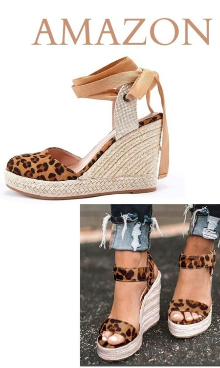 Get your leopard print platform sandal fixes from Amazon!    Platform Sandals Wedge Sandals.    Follow me in the @LIKEtoKNOW.it shopping app to shop this post and get my exclusive app-only-content!  #liketkit #wedgesandals #sandals #amazonfashion #amazon #amazonstyle #platformsandals @liketoknow.it