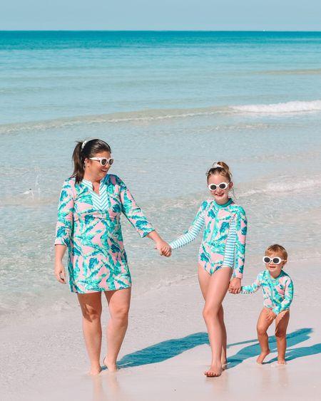Mommy and me palm print suits 😍😍 http://liketk.it/3gsz5 #liketkit @liketoknow.it #LTKtravel #LTKswim #LTKfamily cabana life / 30A Mama / beach trip / matching suits / swimsuit coverup / rash guard swimsuit