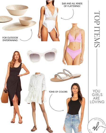 Little white dress, basic tanks, cute swimwear and summer accessories made the top sellers this week @liketoknow.it #liketkit http://liketk.it/3gfX6 #LTKswim #LTKunder100 #LTKstyletip