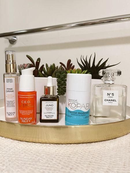 Top daily summer skincare and body care products.  Summer beauty | Acne control | Blemish control | Sunday Riley | Natural beauty | Sephora sale | Beauty sale | Natural deodorant | Chanel No. 5 | Vitamin C serum | Summer beauty tips   #LTKSpringSale #LTKbeauty #LTKsalealert