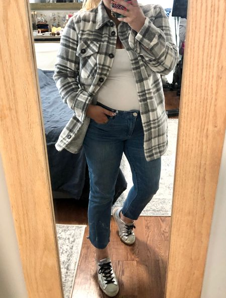 This shacket sold out super quick but I found a super similar one on sale for $36! Linking it here along with the rest of my outfit.   #LTKunder50 #LTKsalealert #LTKstyletip