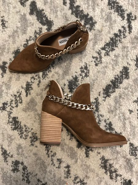 I have the non-chain version of these booties from last year and LOVE them so I wanted to snag these this year. Definitely go up a half size!   #LTKsalealert #LTKshoecrush #LTKunder100