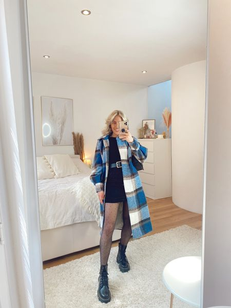 Shacket styling for autumn and winter with spot tights and a LBD for the perfect everyday autumn look that can be easily taken into the night   #LTKstyletip #LTKSeasonal #LTKeurope
