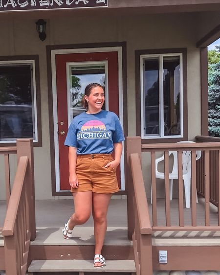 Bless these summer months when we can vacation in our own state ❤️🌞🖐 this vintage Michigan tee is from Amazon and these paper bag waist shorts are under $30 from target! http://liketk.it/3gYzD #liketkit @liketoknow.it You can instantly shop all of my looks by following me on the LIKEtoKNOW.it shopping app #LTKunder50 #LTKstyletip #LTKfamily