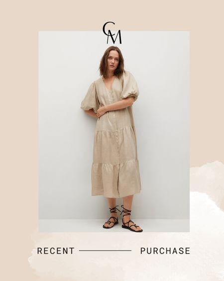 Mango 100% linen dress http://liketk.it/3hMVm @liketoknow.it #liketkit #LTKunder100