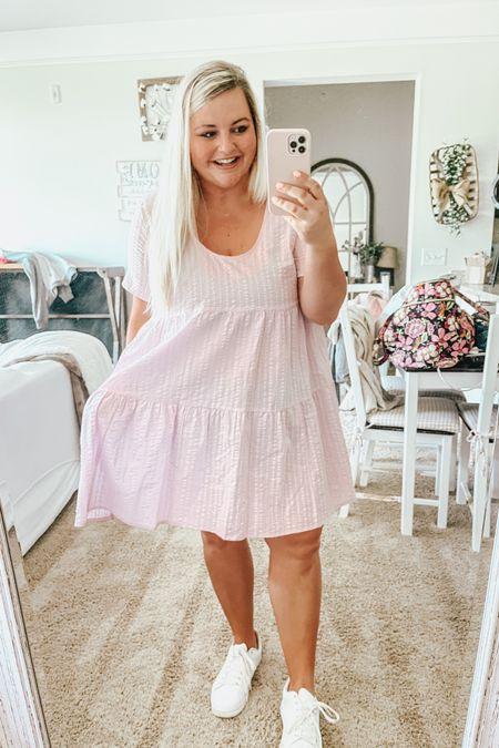Spring dress, summer dress, wedding guest dress, vacation outfit, teacher style, babydoll dress, target finds http://liketk.it/3eHtv #liketkit @liketoknow.it #LTKunder50 #LTKstyletip #LTKwedding