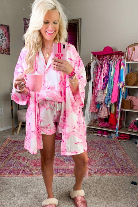 Buddy love pink pajama set size large Buddy love robe comes in multiple colors and patterns  Budha girl white Bracelet Stack - buddy love  budha girl rose gold bracelet stack - buddy love Use code purposeinthepink for 15% off at buddy love  Kendra Scott gold necklace under $50 Etsy mug Gold initial necklace PJ set , loungewear, matching set, bridesmaids gifts #LTKwedding   http://liketk.it/3hMEK #liketkit @liketoknow.it #LTKunder100 #LTKunder50