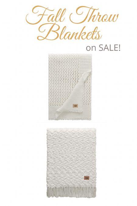 Cozy Ugg throw blankets on sale! 40% off!  Home decor, fall decor  #LTKsalealert #LTKhome #LTKSeasonal