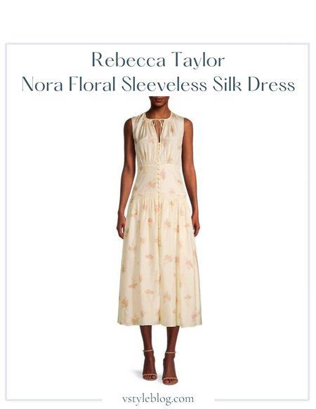 Nordstrom sale, Summer outfits, Midi dress, Sale alert  Rebecca Taylor Nora Floral Sleeveless Silk Dress  @ Nordstrom (was $375, now $225) @ Rebecca Taylor (was $375, now $225) @ Bloomingdale's (was $375, now $262.50) @ Saks Fifth Avenue ($375)  #LTKSeasonal #LTKfit #LTKsalealert