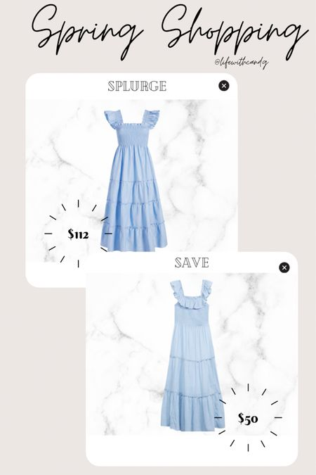 Hill house nap dress. Hillhouse nap dress dupe. Smocked floral dress light blue floral flowers. Target. Splurge vs save. Inexpensive nap dress dupe.    http://liketk.it/3dnnc #liketkit @liketoknow.it #LTKstyletip #LTKunder50