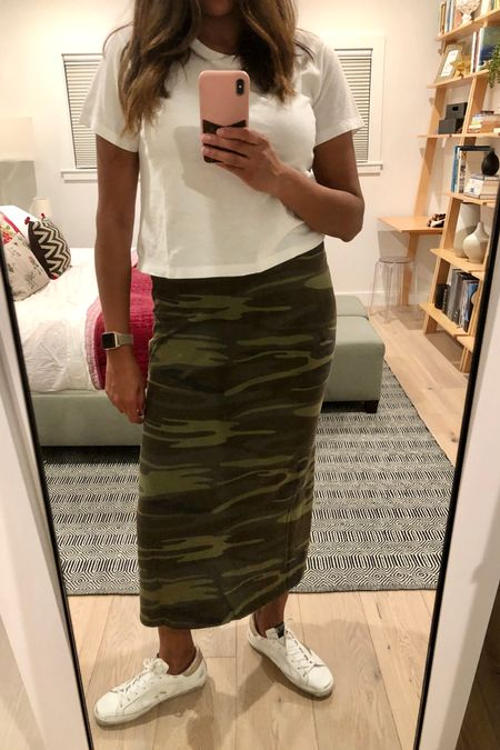 My new fave: Z Supply! This camo skirt is super soft and stretchy. It's the perfect casual staple and goes with white sneakers. http://liketk.it/2UzqO #liketkit @liketoknow.it