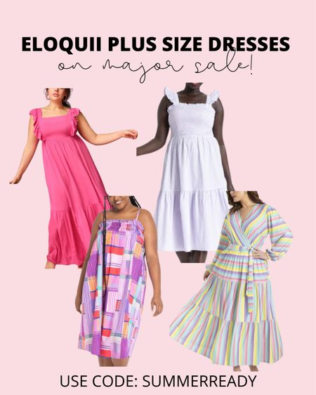 So many gorgeous plus size summer dresses are on sale today! These will be perfect plus size wedding guest dresses, or baby shower and bridal shower dresses!   #LTKunder100 #LTKcurves #LTKsalealert