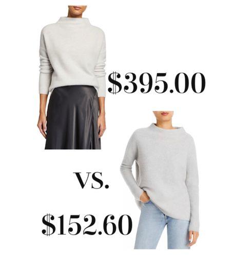 Cashmere mock neck sweater look for less.   #LTKsalealert #LTKstyletip