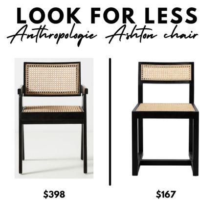 Look for Less, Anthropologie Ashton caned dining chair, Walmart Home, nautical, home decor  #LTKhome