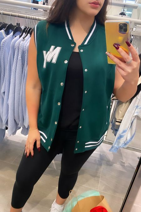 Loveeee this green varsity vest! So cute and chic!! And it also comes in a grey with red lettering too! And they're under $25!  #LTKstyletip #LTKunder100 #LTKunder50