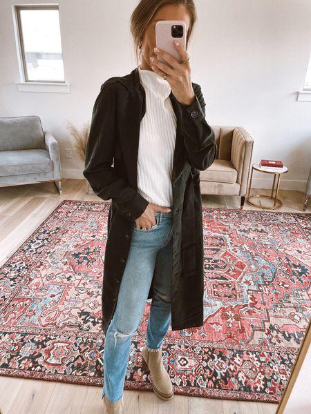 Black trench coat from Gibson! Code NATALIE15 gets you 15% off! XS workwear   #LTKsalealert #LTKstyletip #LTKworkwear