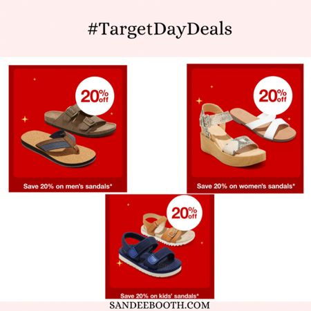 Target Deal Days: 20% off all summer sandals for men, women, children   #LTKfamily #LTKSeasonal #LTKsalealert